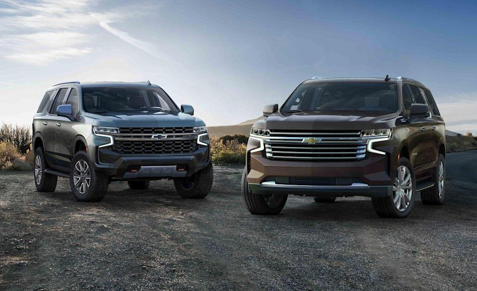 """<p>Based on the same frame on the new <a href=""""https://www.caranddriver.com/chevrolet/silverado-1500"""" rel=""""nofollow noopener"""" target=""""_blank"""" data-ylk=""""slk:Chevrolet Silverado"""" class=""""link rapid-noclick-resp"""">Chevrolet Silverado</a>, the <a href=""""https://www.caranddriver.com/chevrolet/tahoe"""" rel=""""nofollow noopener"""" target=""""_blank"""" data-ylk=""""slk:Chevy Tahoe"""" class=""""link rapid-noclick-resp"""">Chevy Tahoe</a> and <a href=""""https://www.caranddriver.com/chevrolet/suburban"""" rel=""""nofollow noopener"""" target=""""_blank"""" data-ylk=""""slk:Suburban"""" class=""""link rapid-noclick-resp"""">Suburban</a> are as tough as they come, boasting nearly 10 inches of maximum ground clearance with air springs and more than 122 cubic feet of cargo space. No wonder they outsold all other full-size, body-on-frame SUVs combined in the United States last year. To help with ride quality and handling, the new family haulers from General Motors now employ the help from an independent rear suspension. The Tahoe and Suburban should be for sale in the middle of 2020 as the biggest SUVs Chevy has made yet.</p>"""
