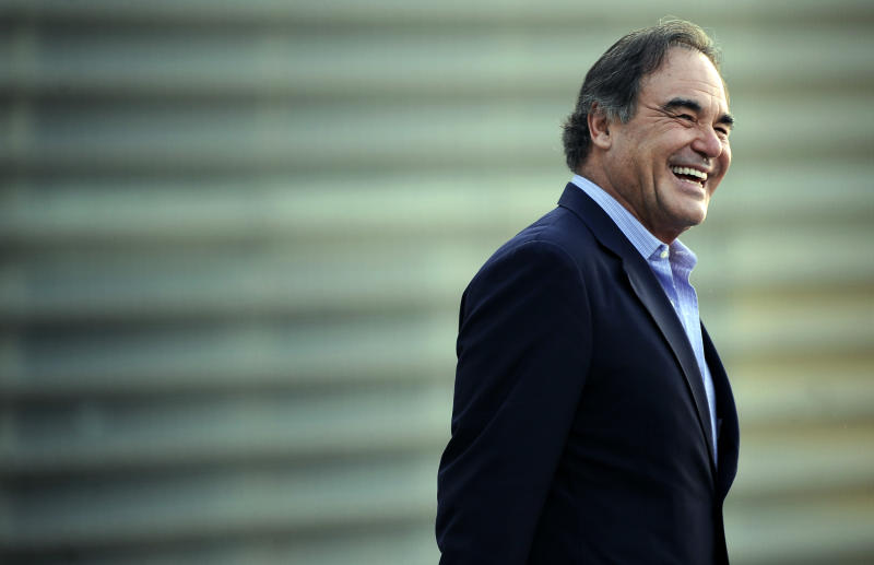 US film director Oliver Stone poses during the San Sebastian Film Festival on September 24, 2013 in the northern Spain