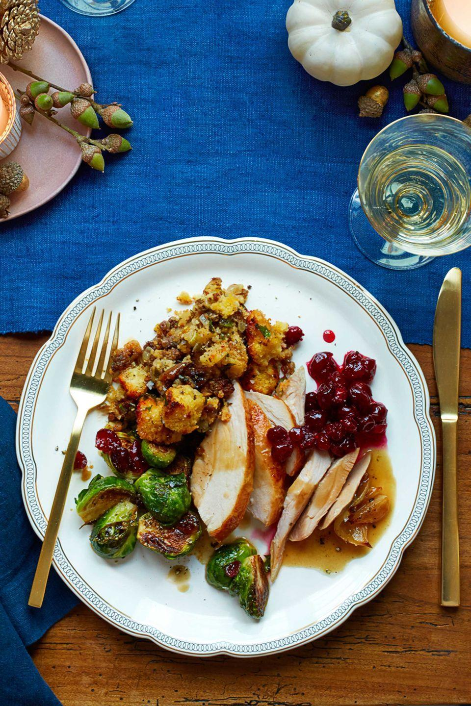 """<p>Add heaps of flavor to your turkey with this simple and elegant gravy you can whip up in no time.<br></p><p><a href=""""https://www.womansday.com/food-recipes/food-drinks/recipes/a12558/roasted-turkey-gravy-recipe-wdy1113/"""" rel=""""nofollow noopener"""" target=""""_blank"""" data-ylk=""""slk:Get the Roasted Turkey Gravy recipe."""" class=""""link rapid-noclick-resp""""><em><strong>Get the Roasted Turkey Gravy recipe.</strong></em></a></p>"""