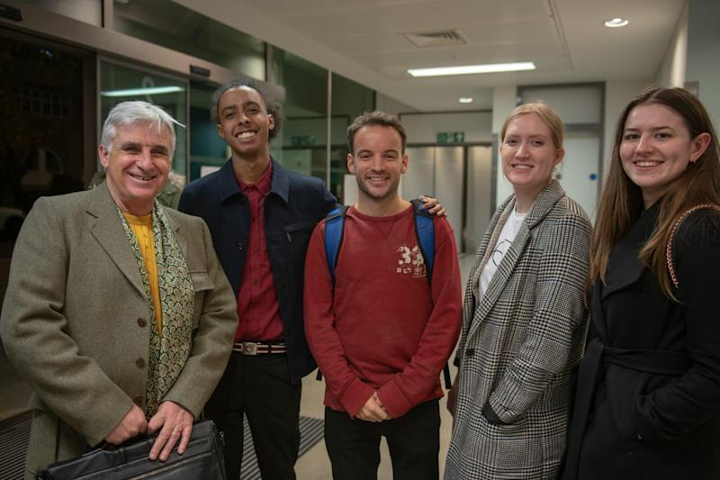 From left: Peter McDonough, Jamal Reilly, Sam Forsdike at the 'We need to talk about Rough Sleeping event' in November