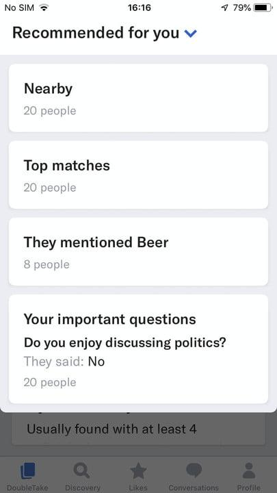 Screenshot of a question from the OKCupid app