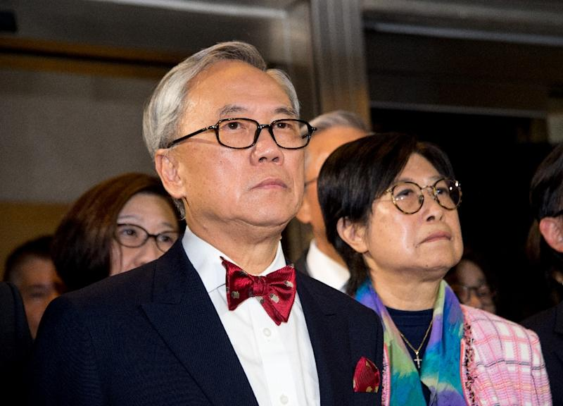 Former Hong Kong chief executive Donald Tsang and his wife Selina leave the High Court in November last year