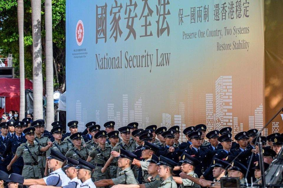 Hong Kong's national security law came into force on June 30 last year. Photo: AFP