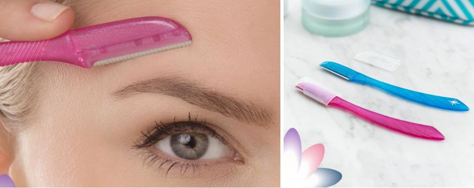 """Take care of those unwanted unibrow hairs that keep dodging your tweezers, or work whatever face fuzzies you might want to take care of in a gentle way, with this razor. This tool also helps soften skin by gently exfoliating as you use it!<br /><br /><strong>Promising review:</strong>""""I just got this delivered today, so I decided to test it. I'm a woman with very dark and coarse hair, so my peach fuzz is a little more prominent than normal, and I'll admit that I do have a unibrow that I try to shave.<strong>I've tried everything from a facial blade that never really did much of anything, to a regular old razor, and then finally an electric razor. None of them did what this thing does.</strong>My electric razor cuts about half of the growth of the hair, and this razor completely eliminated it.<strong>I can't even feel any residual hair that's usually left when I shave, only skin.</strong>Plus the built-in exfoliation when in use is a great addition; no need for any sort of lotion or shaving cream (although you may want to use right after a shower or get the area wet to weaken the follicles, just as you would any other sort of razor before shaving, and also to avoid razor burn). I hadn't really intended on this happening, but I actually procrastinated on shaving my unibrow this time around and this is going to sound so odd but I'm glad that I did because<strong>it completely eliminated the existence of my unibrow</strong>."""" —<a href=""""https://www.amazon.com/gp/customer-reviews/R1JBNUBA1BBXTP?&linkCode=ll2&tag=huffpost-bfsyndication-20&linkId=5a1b63f0e35a974f4fc5602f01cc1807&language=en_US&ref_=as_li_ss_tl"""" target=""""_blank"""" rel=""""nofollow noopener noreferrer"""" data-skimlinks-tracking=""""5738624"""" data-vars-affiliate=""""Amazon"""" data-vars-href=""""https://www.amazon.com/gp/customer-reviews/R1JBNUBA1BBXTP?tag=bfemmalord-20&ascsubtag=5738624%2C7%2C35%2Cmobile_web%2C0%2C0%2C0"""" data-vars-keywords=""""cleaning,fast fashion,skincare"""" data-vars-link-id=""""0"""" data-vars-price="""""""" data-vars-retaile"""