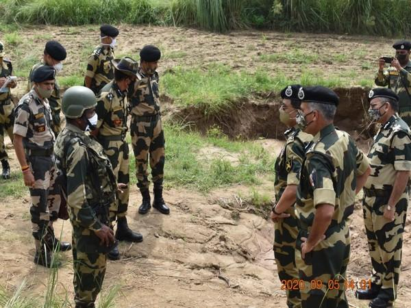 BSF Director General visited border outposts in Samba sector on Saturday