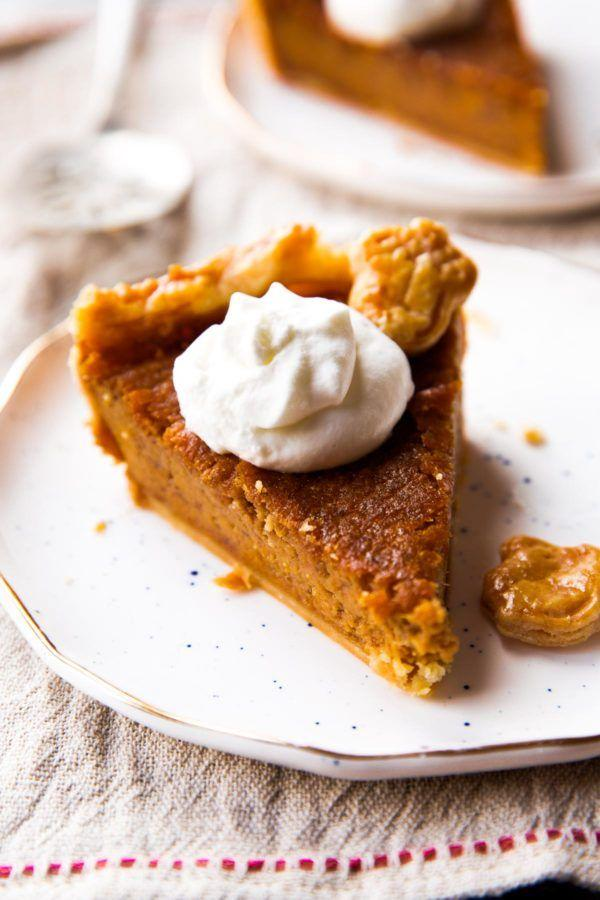 """<p>A buttery homemade crust makes this pie a winner. So does a smattering of the most flavorful fall spices, the addition of dark brown sugar, and a dreamy burnt orange color.</p><p><strong>Get the recipe at <a href=""""https://sallysbakingaddiction.com/brown-sugar-sweet-potato-pie/"""" target=""""_blank"""">Sally's Baking Addiction</a>.</strong></p><p><strong><a class=""""body-btn-link"""" href=""""https://www.amazon.com/Hamilton-Beach-62682RZ-Mixer-Snap/dp/B00YOTMR3G?tag=syn-yahoo-20&ascsubtag=%5Bartid%7C10050.g.3792%5Bsrc%7Cyahoo-us"""" target=""""_blank"""">SHOP HAND MIXERS</a><br></strong></p>"""