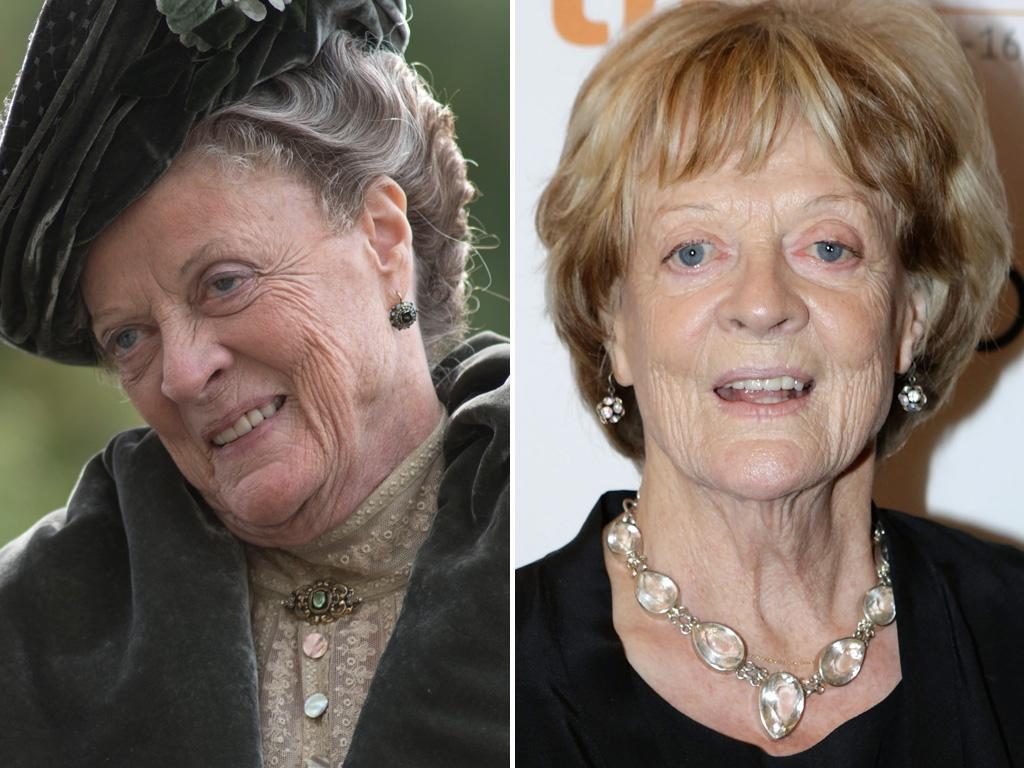 <p>Emmy winner <strong>Maggie Smith</strong> looks twenty years younger when she's not trapped under one of the Dowager Countess's flowery hats. Check out those lively blonde locks!</p>