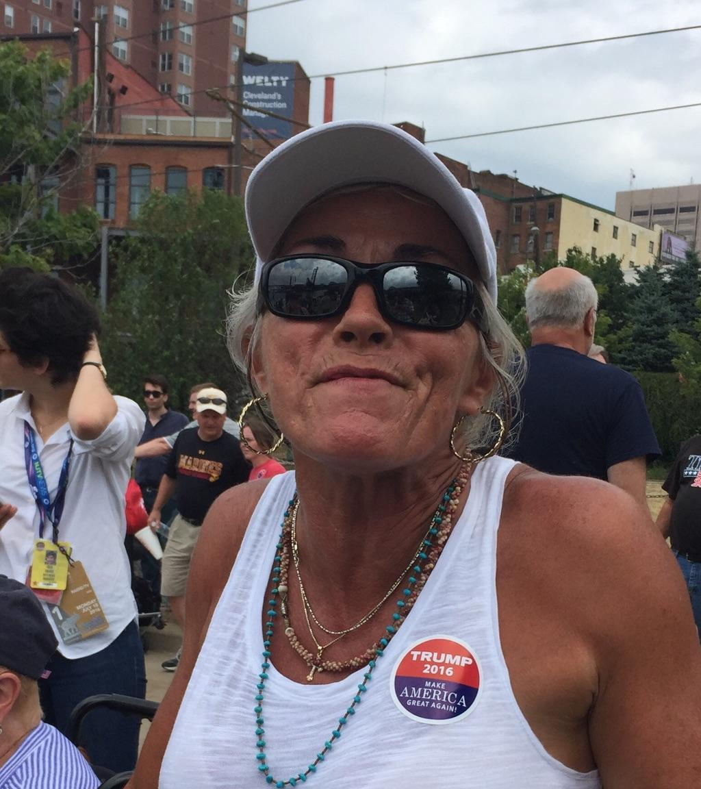 Rhonda Welsch, a Trump supporter at the rally. (Photo: Jeff Stacklin/Yahoo News)