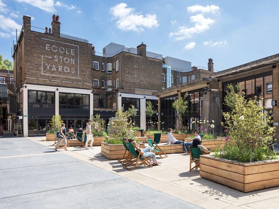 Architects Buckley Gray Yeoman were praised for turning an industrial courtyard into a social space with very little energy-intensive construction involved (Matt Chisnall)