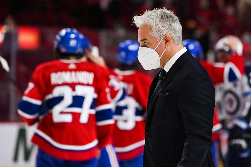Montreal Canadiens head coach Dominique Ducharme won't be behind the bench for the foreseeable future. (Photo by David Kirouac/Icon Sportswire)