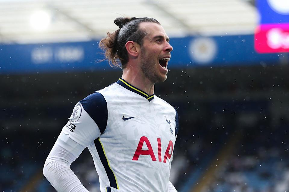 <p>Gareth Bale signed off his Tottenham loan with two goals at Leicester</p> (Tottenham Hotspur FC via Getty I)