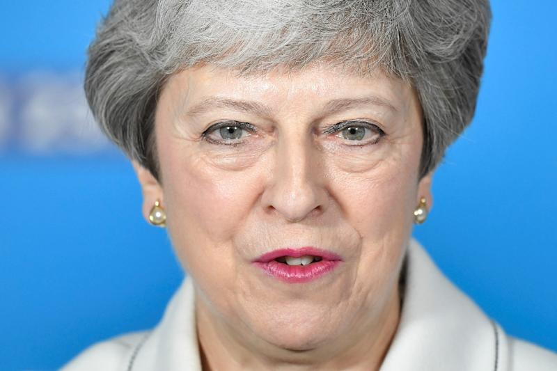 Britain's Prime Minister Theresa May said the Withdrawal Agreement Bill will come with a new package of measures attached that she hopes can command majority support (AFP Photo/TOBY MELVILLE)