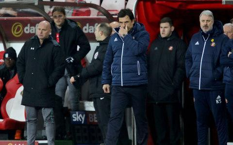Chris Coleman would normally welcome a goal from his top scorer, but when that turns out to be a forward who left Sunderland two months ago scoring on his return, it encapsulates a disastrous campaign that looks increasingly likely to end in relegation. Lewis Grabban's third goal in as many games for Aston Villa helped to seal a ninth win in 11 games to cement their grip on third place as Steve Bruce's side pulled to within seven points of Championship leaders Wolves, who they host on Saturday. Grabban found the net 12 times for the Wearside club during a loan spell from Bournemouth in the first half of the season, to leave him still six clear of the next most prolific Sunderland player this season, Aiden McGeady, who has six. However, as the jeers from home fans were quick to remind him, the 30-year-old left under something of a cloud when opting to swap Sunderland's seemingly futile relegation battle for life at the opposite end of the table under Steve Bruce, whose side look a decent bet to end the club's two-season exile from the top flight. Bruce enjoyed his latest return to this part of the North-East, and the former Sunderland manager now boasts a record of just one defeat in It was another night to forget for Coleman Credit: pa 16 games against his former employers, who remain bottom of the table and appear doomed to back-to-back relegations for the first time in their history. Given the hosts' brittle confidence and almost non-existent self-belief once they go behind, the outcome looked in little doubt after the visitors surged into a deserved two-goal lead at the interval to condemn Coleman's side to an eighth game without victory. Almost inevitably, the deadlock was broken by Grabban. The forward made the most of hesitant defending from his former team-mates John O'Shea and Billy Jones, who allowed Albert Adomah's left-wing centre across the face of goal, to head home u opposed at the far post 11 minutes before the interval. Sunderland were undone by furt
