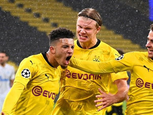 <p>Jadon Sancho and Erling Haaland are two players rumoured to be leaving</p> (Getty Images)