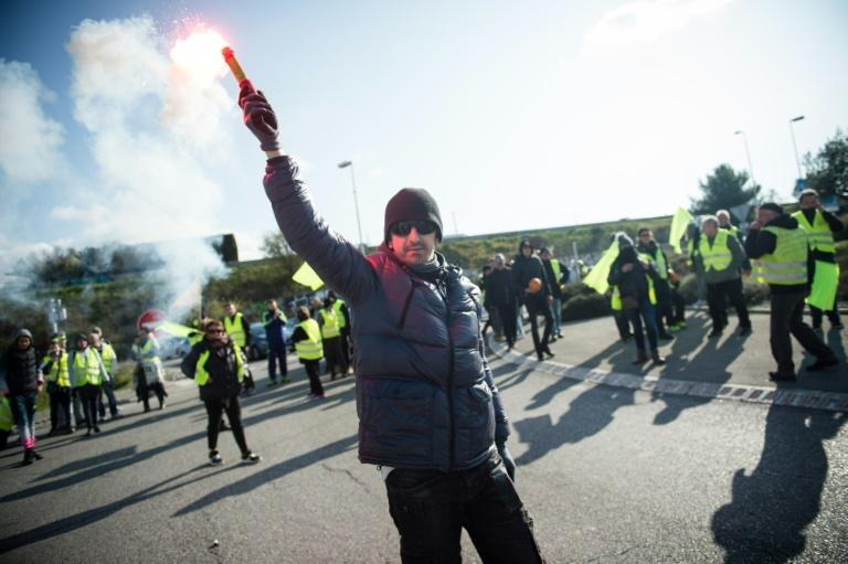 There have been 'yellow vest' protests across France this weekend (AFP Photo/CLEMENT MAHOUDEAU)
