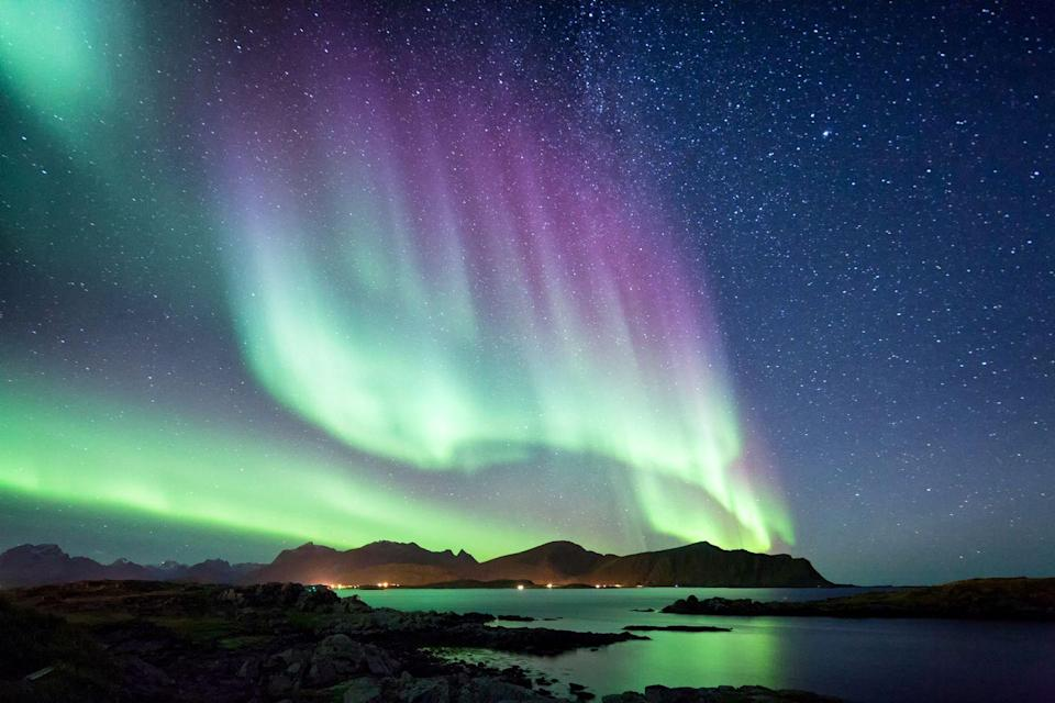 """<p>Experience the mesmerising Northern Lights as you cruise up Norway's east coast into the Arctic Circle on this magical winter cruise. On hand to explain some of the science behind this otherworldly weather phenomenon will be the always entertaining Carol Kirkwood, who will give a talk and accompany you on excursions into the snow-covered landscapes you'll stop off at along the way.</p><p>These include the Lofoten Islands, Europe's most northerly point at the North Cape, where Carol will give her talk, and fishing towns like Trondheim and Hammerfest. You'll also have the chance to go snowmobiling through Norway's frozen landscapes, spot sea eagles, go sea kayaking, or ride through pine forests on a husky sled.</p><p><a class=""""link rapid-noclick-resp"""" href=""""https://www.countrylivingholidays.com/tours/norway-northern-lights-cruise-carol-kirkwood"""" rel=""""nofollow noopener"""" target=""""_blank"""" data-ylk=""""slk:FIND OUT MORE"""">FIND OUT MORE</a></p>"""