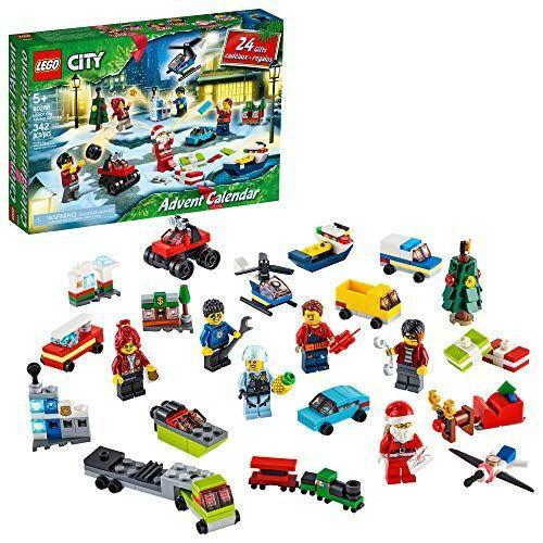 """<p><strong>LEGO</strong></p><p>amazon.com</p><p><strong>$34.00</strong></p><p><a href=""""https://www.amazon.com/dp/B085B2L642?tag=syn-yahoo-20&ascsubtag=%5Bartid%7C10055.g.4911%5Bsrc%7Cyahoo-us"""" rel=""""nofollow noopener"""" target=""""_blank"""" data-ylk=""""slk:Shop Now"""" class=""""link rapid-noclick-resp"""">Shop Now</a></p><p>They'll get a thrill out of building their own city center, complete with 24 different snow-covered buildings, cars, and LEGO characters. Chief Wheeler even dresses the part by wearing a Santa costume! </p>"""