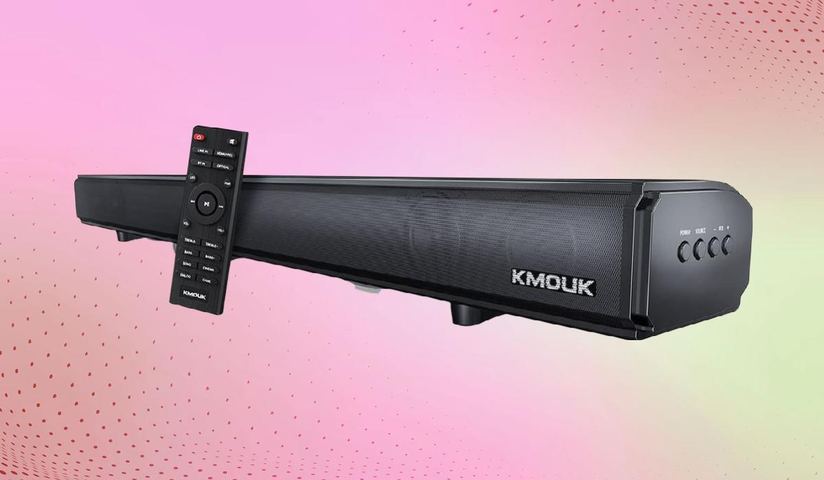 Built-in TV speakers make ears cry. Enjoy much-improved audio with a soundbar like this. (Photo: Amazon)