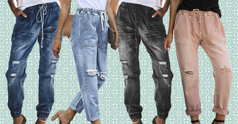 Sidefeel denim joggers come in a slew of colors and styles. You'll become obsessed! (Photo: Amazon)
