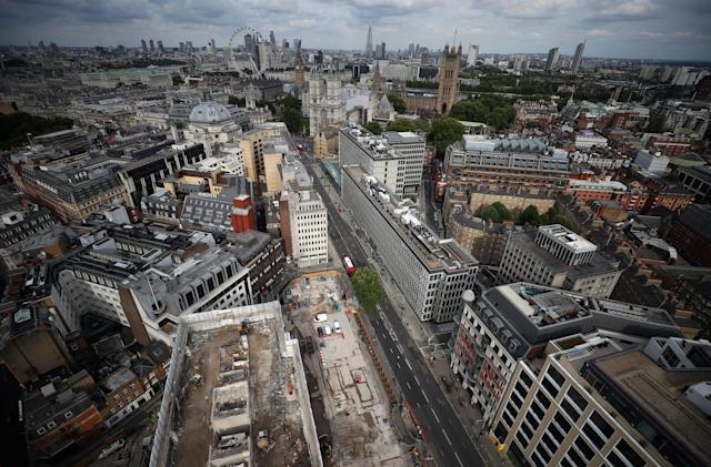 City of London as seen from the Broadway development site in central London, Britain. Photo: Hannah McKay/Reuters