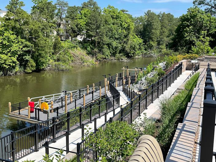 The Grove Park Canal Dock opened this summer near the Rehoboth Beach Museum in Delaware.