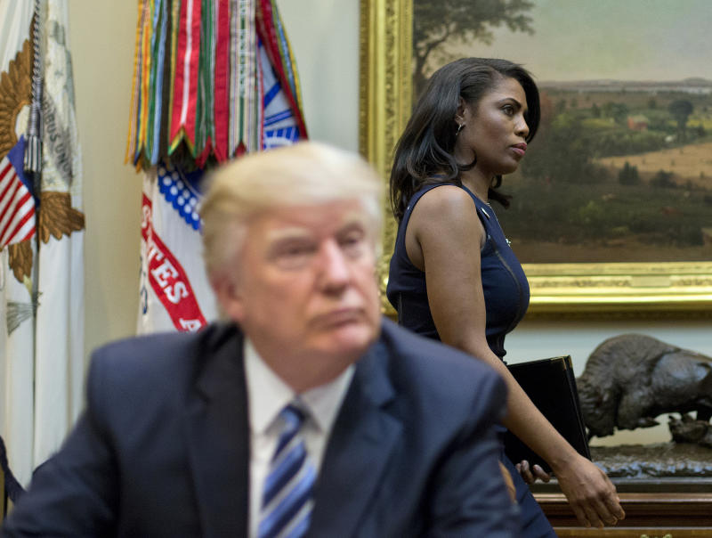 President Trump with Omarosa Manigault Newman