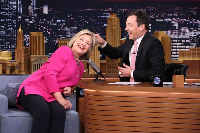 Hillary Clinton and Jimmy Fallon