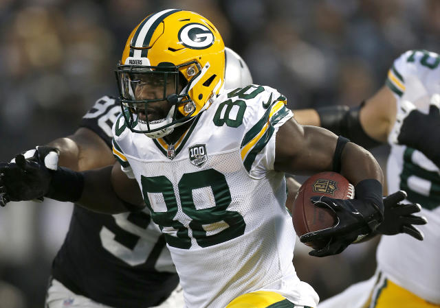 Former Green Bay Packers running back Ty Montgomery is settling in with the Baltimore Ravens after a trade. (AP)