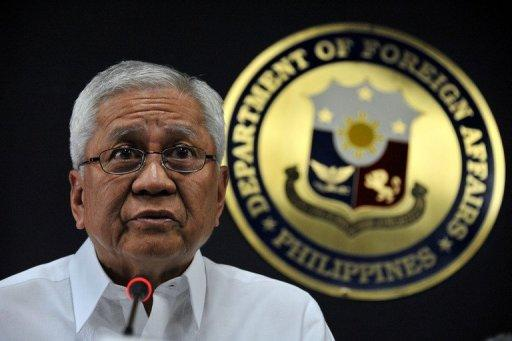 Philippines' Department of Foreign Affarirs (DFA) secretary, Albert del Rosario