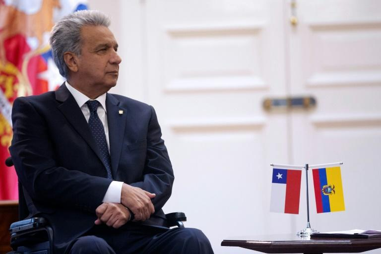 Ecuador's President Lenin Moreno, seen here in June 2019, has found a warmer relationship with the United States (AFP Photo/CLAUDIO REYES)