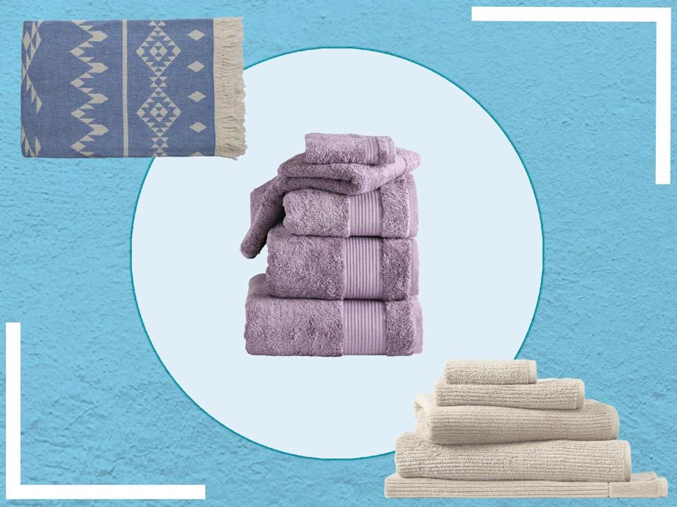 <p>Check your current towels, if they aren't drying you effectively or feel a little scratchy and rough, you're probably due new ones</p> (iStock/The Independent )