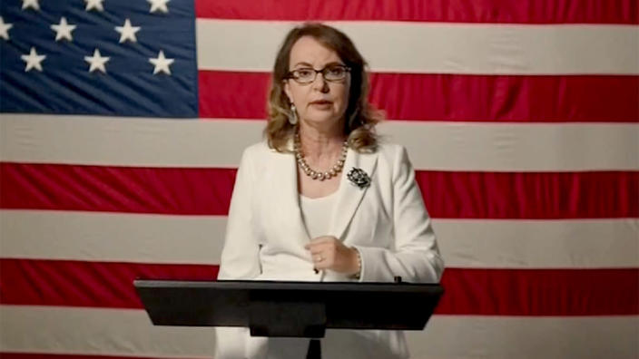 Gabby Giffords speaks during the virtual Democratic National Convention on August 19, 2020. (via Reuters TV)