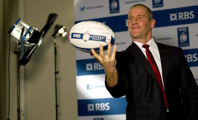 England's coach, Stuart Lancaster, pictured during a television interview at the official launch of the 2013 Six Nations rugby union tournament, at the Hurlingham Club in London, on January 23, 2013. The Lions' boss Warren Gatland has assured Lancaster selection for this year's British and Irish Lions tour of Australia will be based solely on merit