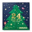 """<p>davidstea.com</p><p><strong>$50.00</strong></p><p><a href=""""https://go.redirectingat.com?id=74968X1596630&url=https%3A%2F%2Fwww.davidstea.com%2Fus_en%2Ftea%2Fshop-all%2F24-days-of-tea-shop%2F24-days-of-tea%2F961630US01VAR0075618.html%3Fcgid%3D24-days-of-tea-shop%23start%3D1&sref=https%3A%2F%2Fwww.townandcountrymag.com%2Fleisure%2Fdrinks%2Fg13408658%2Ftea-advent-calendars%2F"""" rel=""""nofollow noopener"""" target=""""_blank"""" data-ylk=""""slk:Shop Now"""" class=""""link rapid-noclick-resp"""">Shop Now</a></p><p>Every year, tea lovers wait with bated breath for this Canadian tea emporium's calendar filled with 24 holiday-ready flavors like fan-favorite Cream of Earl Grey as well as seasonal sips like Candy Cane Crush, Caramel Shortbread, and Jingle Bell Chai.</p>"""