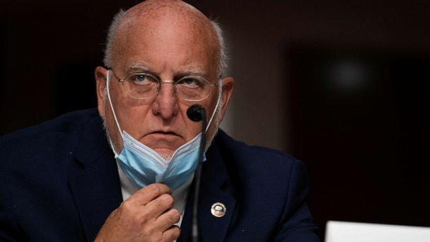 PHOTO: Dr. Robert Redfield, director of the Centers for Disease Control and Prevention, testifies during a Senate Senate Health, Education, Labor, and Pensions Committee hearing at the U.S. Capitol in Washington, Sept. 23, 2020. (Alex Edelman/Pool via Reuters)