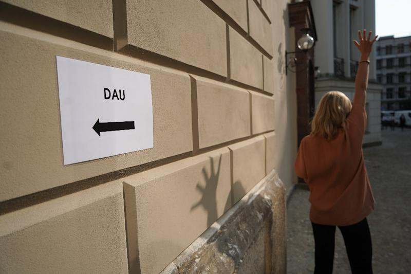 """The mysterious and mammoth """"DAU"""" film project in the German capital is set to rebuild part of the Berlin Wall to create a closed-off mini-state, complete with visa checks (AFP Photo/Jörg Carstensen)"""