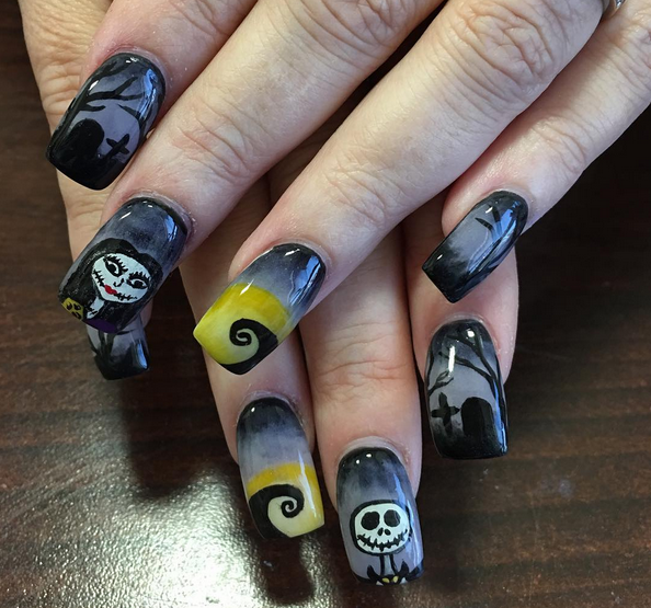 """9 sets of """"The Nightmare Before Christmas"""" nails that are scary fabulous"""