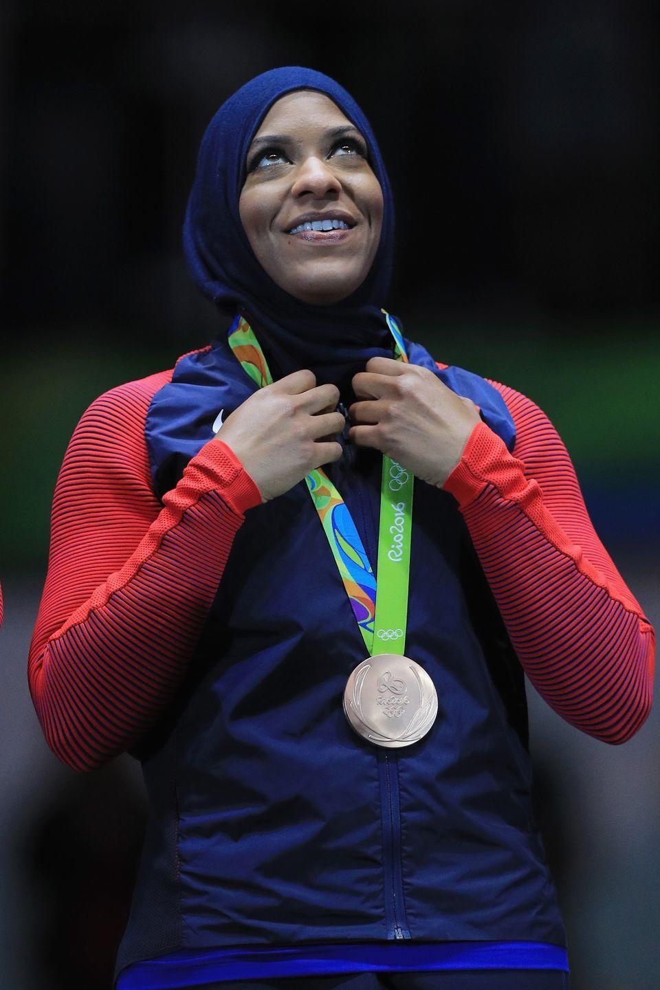 <p><strong>Sport: </strong>Fencing<br></p><p>In 2016, at the Rio Olympics, Ibtihaj Muhammad became the first American to compete while wearing a hijab. She earned a bronze medal at the Games, the first Muslim American woman to do so. Muhammad has since retired from the sport, but is now an activist and entrepreneur. In 2017, Mattel modeled a Barbie after her, and she also owns a clothing company called Louella.</p>