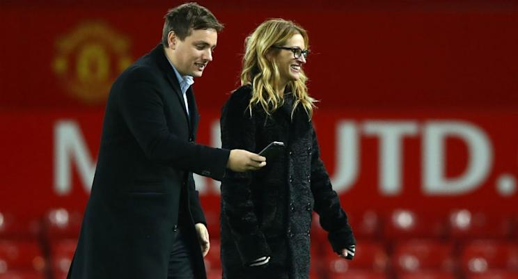 Actress Julia Roberts walks the pitch at Old Trafford last November. What's she up to? (Getty)