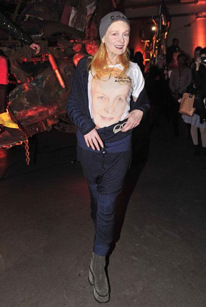 <b>Vivienne Westwood</b><br><br>The fashion designer previewed her AW13 collection in the capital in her signature quirky style.