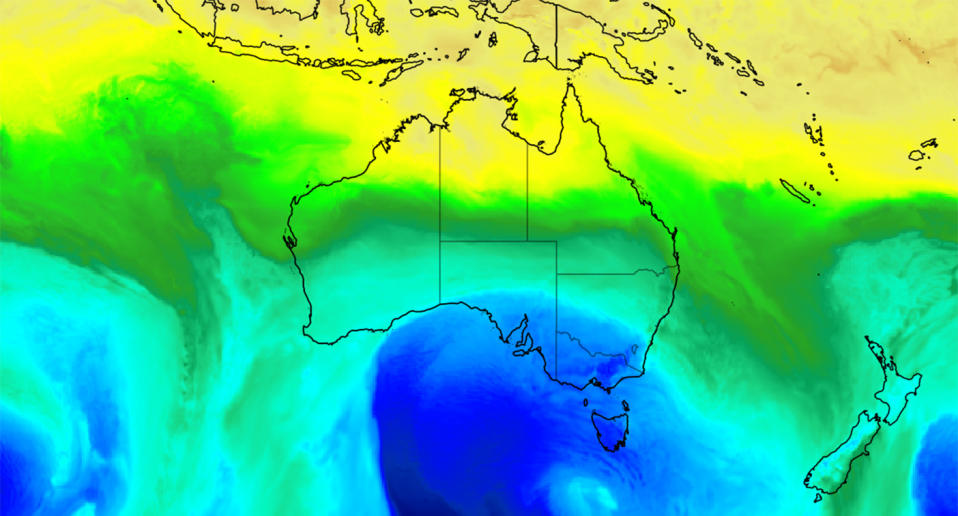 An outbreak of polar air could send chills through southeastern Australia towards the end of the week. Source: Weatherzone