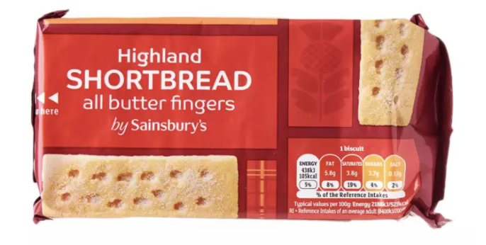 Sainsbury's All Butter Shortbread Fingers