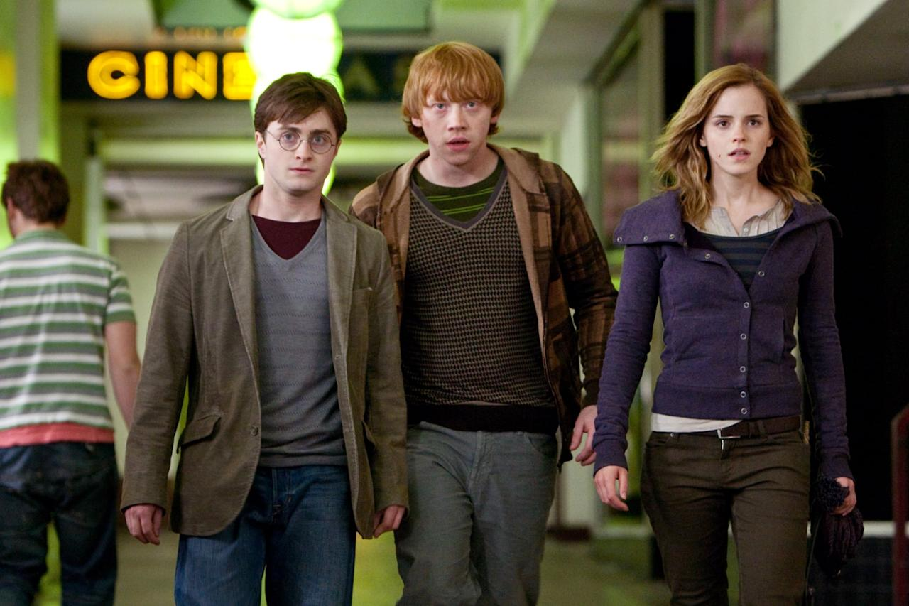 <p>Is it a cheat to lump both parts of the final <strong>Harry Potter</strong> film together? Maybe, but separating the two feels wrong. <strong>Deathly Hallows</strong> ushers Harry, Ron, and Hermione into adulthood as they face a war and the loss of numerous comrades and loved ones. By the end of the eighth movie, the golden trio has come of age right before our eyes, and for all the magic in their world, the loss of innocence evident on their battle worn faces is all too real.</p>