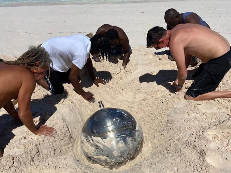 Locals dug the object out of the sandManon Clarke