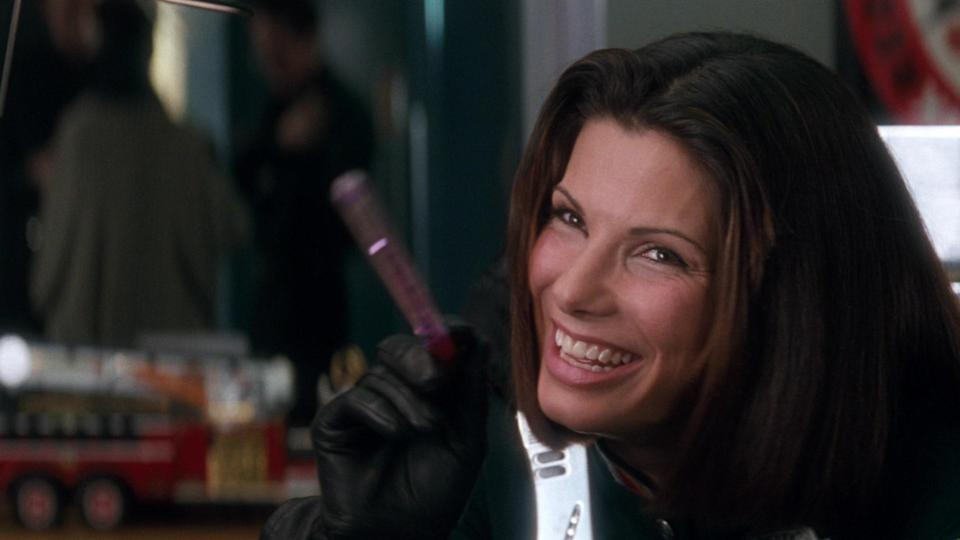 Sandra starred in the 1993 film with Sylvester Stallone, Wesley Snipes, and Benjamin Bratt