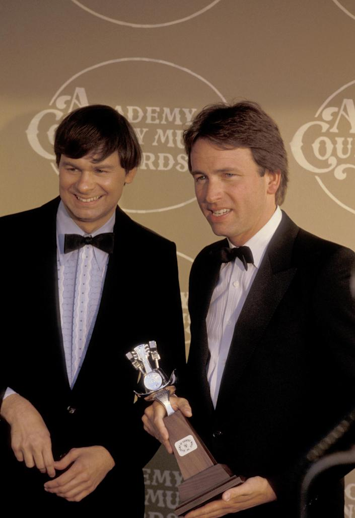 John Ritter & Tom Ritter during 20th Annual Academy of Country Music Awards at Knott's Berry Farm in Los Angeles, California, United States. (Photo by Ron Galella/Ron Galella Collection via Getty Images)