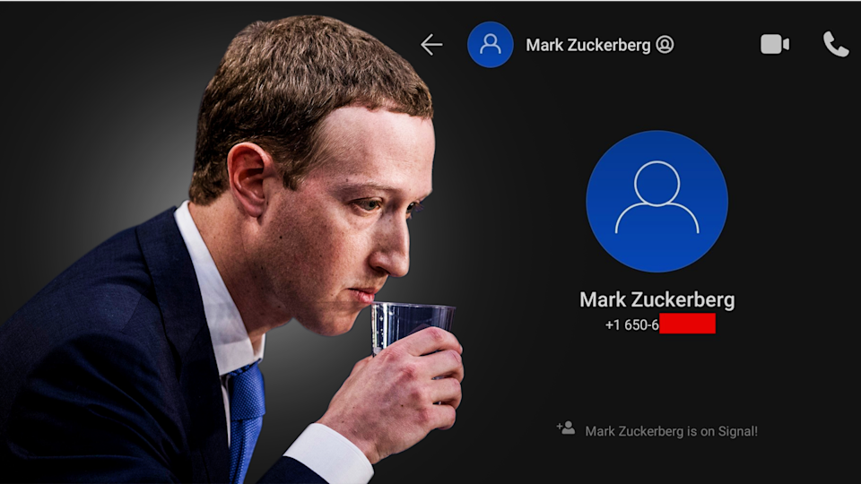 Facebook-leaked phone number reveals that Mark Zuckerberg uses Signal
