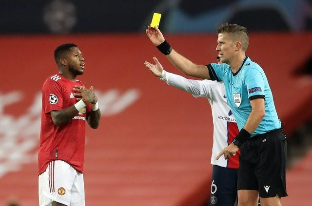 Fred was shown two yellow cards