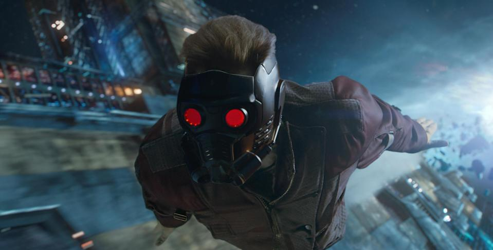A Star-Lord mask from 'Guardians of the Galaxy' is also up for auction (credit: Marvel Studios)