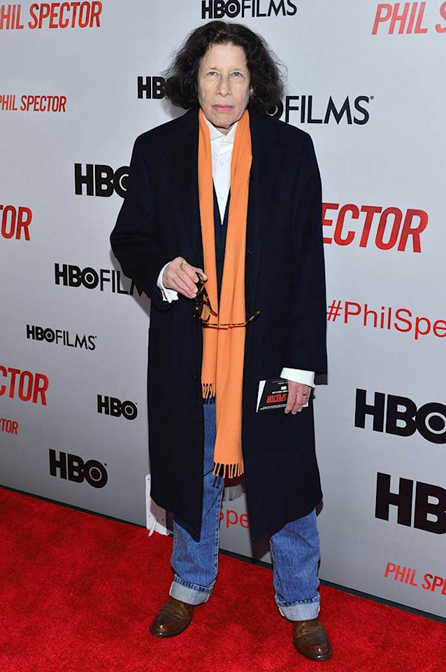 "Fran Lebowitz attends the ""Phil Spector"" premiere at the Time Warner Center on March 13, 2013 in New York City."